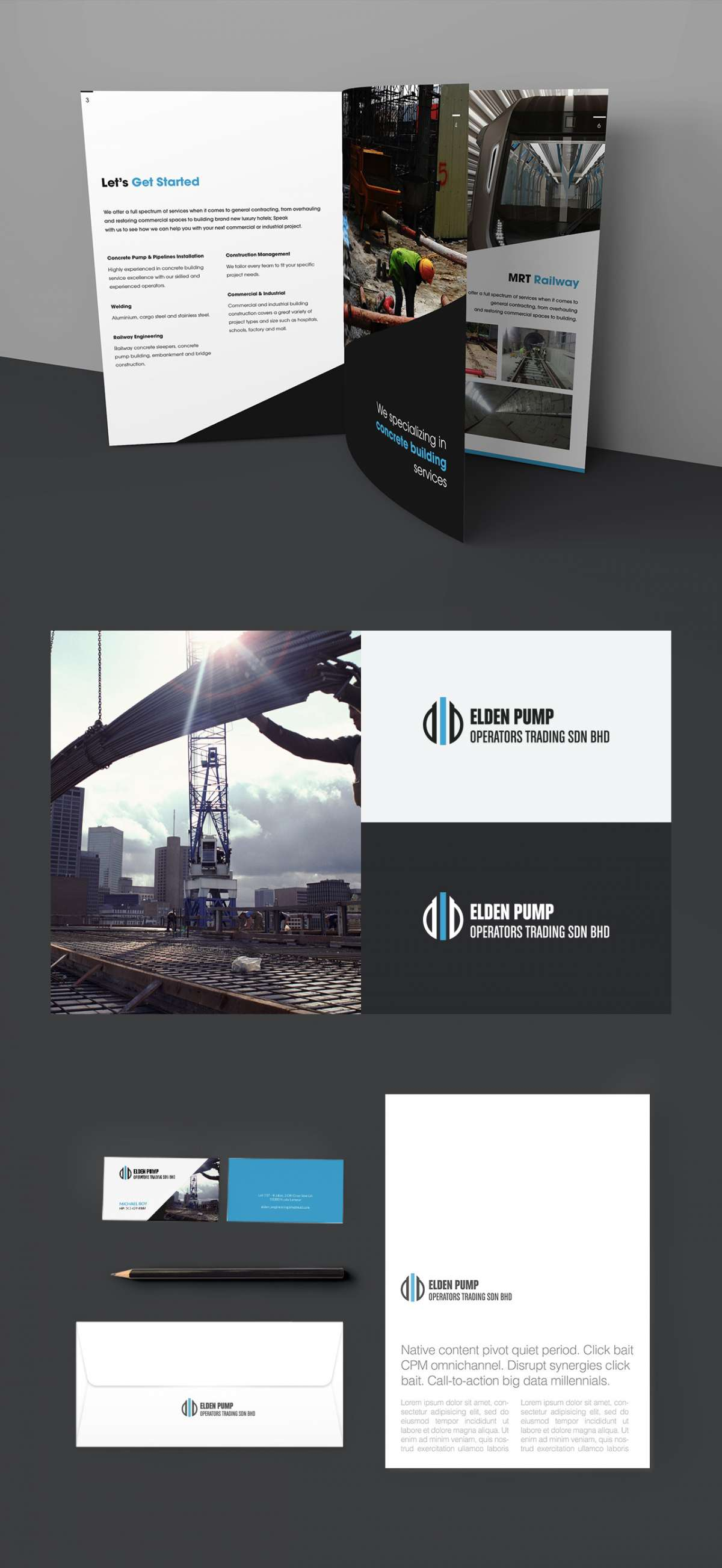 Branding Design Portfolio - Elden Pump Construction