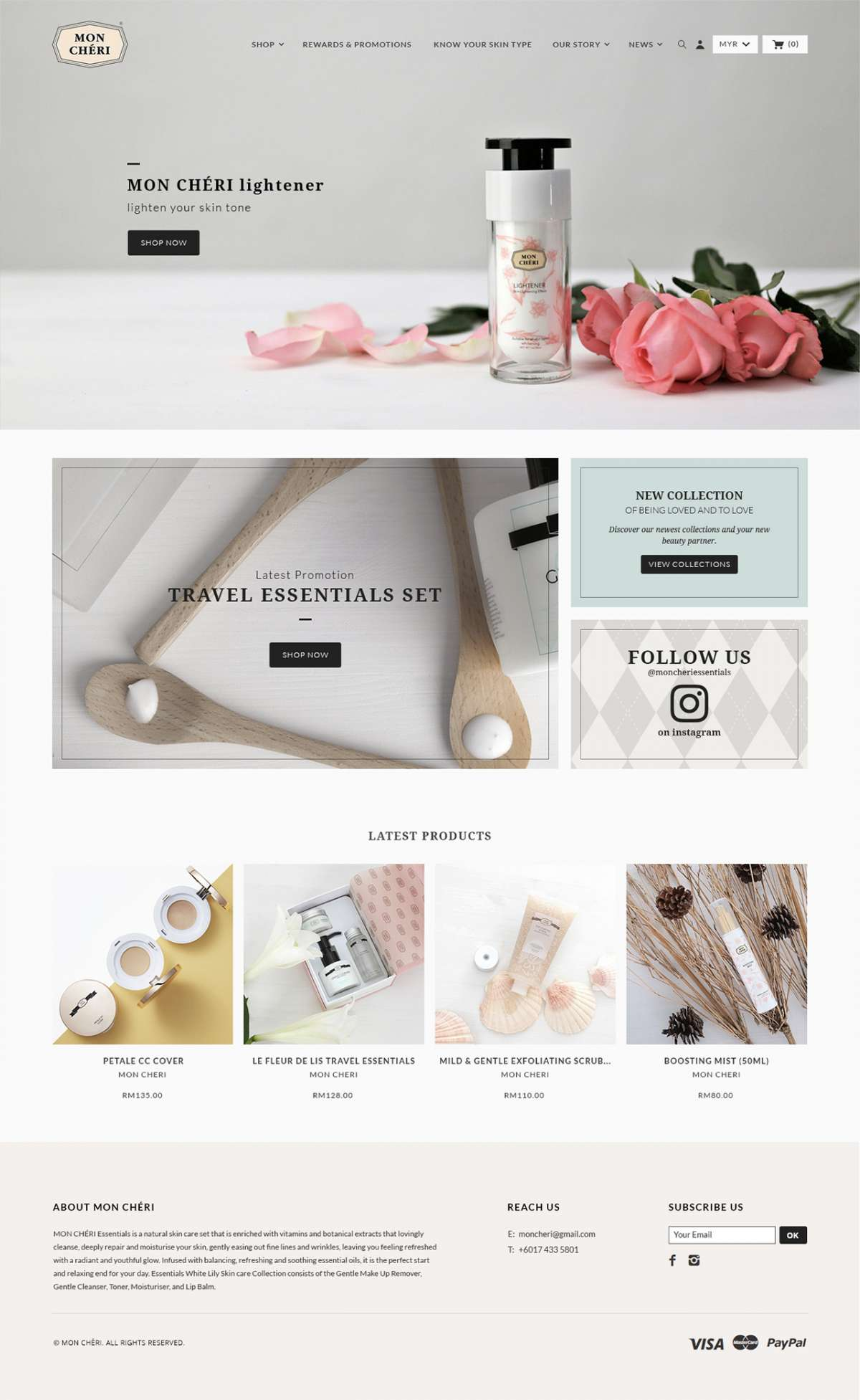 Web Design Portfolio - Mon Cheri Essentials