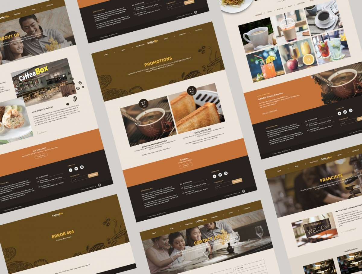 Web Design Portfolio - Coffee Box Malaysia