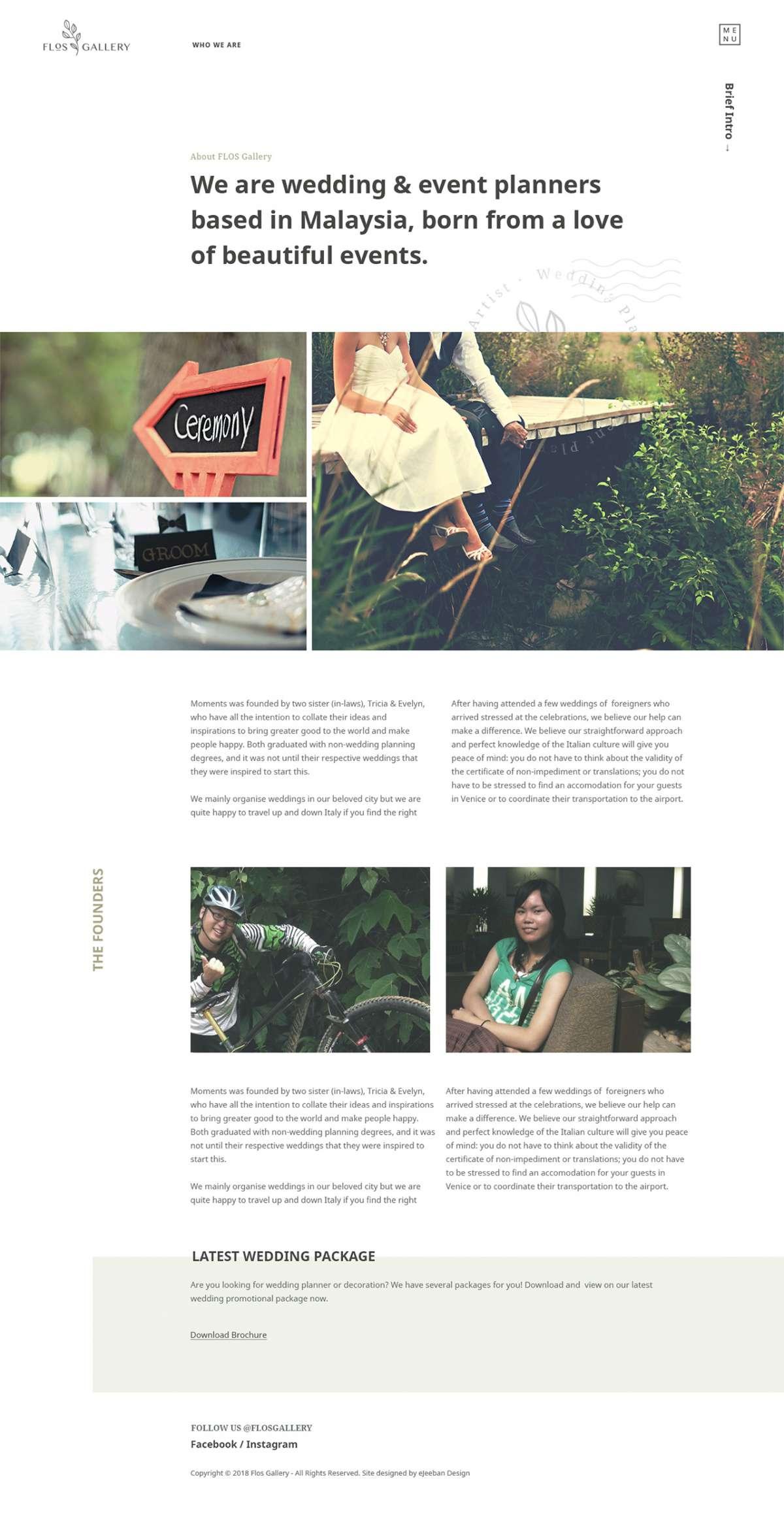 Web Design Malaysia | Web Design | Web Design Portfolio - Flos Gallery