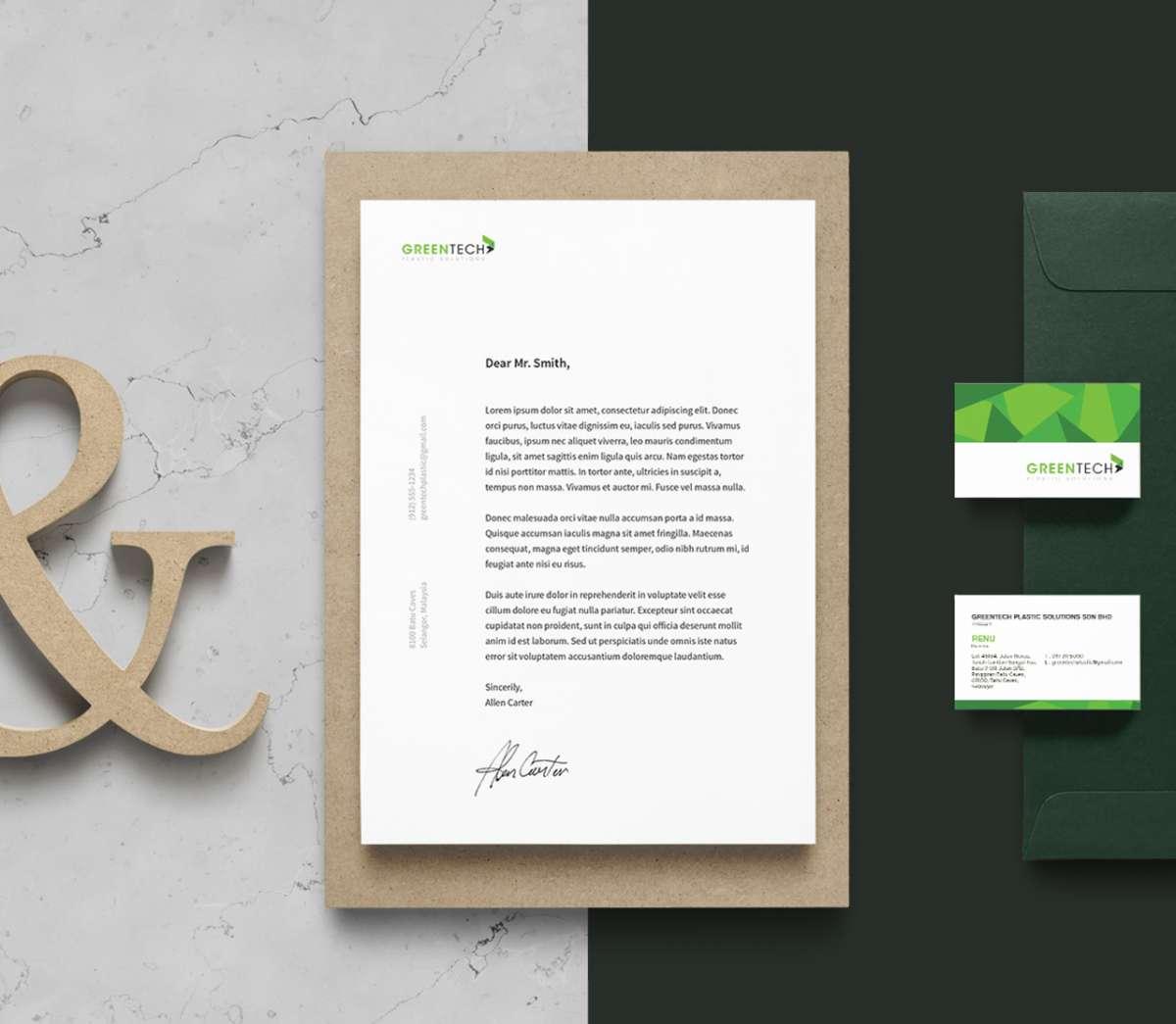 Branding Design Portfolio - Greentech Plastic Solutions