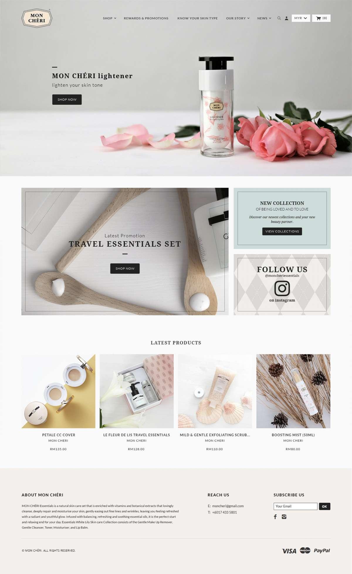 Web Design Portfolio - Mon Cheri Essentials